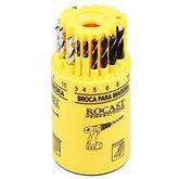 Jogo de Brocas Combinado em Milímetros com 18 Peças - ROCAST-530072
