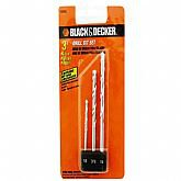 Conjunto 3 Brocas Widea  - BLACKDECKER-16860E