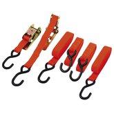 Kit com 4 Fitas 2,5cm x 4,5m para Prender Carga com Catraca Reforçada - WESTERN-FC-17