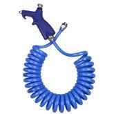 Bico de Limpeza com Mangueira Espiral Azul em PU 8 x 5,5 mm de 3,5 Metros - ARCOM-JARC-MEPU-3,5-AZ