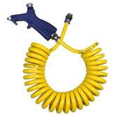 Bico de Limpeza com Mangueira Espiral em PU 8 x 5,5 mm de 3,5 Metros - ARCOM-JARC-MEPU-3,5-AMA