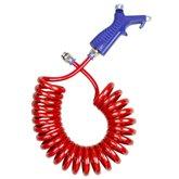Bico de Limpeza com Mangueira Espiral Vermelha 8 x 5,5 mm de 3,5 Metros - ARCOM-JARC-MEPU-3,5-VERM