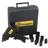 Kit Chave de Impacto Pneumática 32 kgf.m de 1/2 Pol. com Acessórios - PRESSURE-TCI002