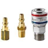 Engate Rápido Sistema Rolete com Rosca Macho de 1/2 Pol. BSP com 02 Adaptadores - ARCOM-ARC-K-025-M12