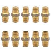 Bucha de Redução em Latão 1/4 x 1/8 Pol. Macho NPT com 10 Peças - SCHWEERS-SCH-R-1418