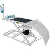 Rampa Pneumático para Motos com Capacidade de 450Kg Branco - SILMAR-31036108