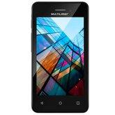 Smartphone 3G Dual Chip 4 Pol. Quad Core com Câmera MS40S Preto  - MULTILASER-NB251