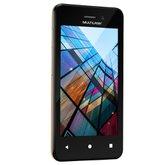 Smartphone 3G Dual Chip 4 Pol. Quad Core com Câmera MS40S Preto e Dourado - MULTILASER-NB702