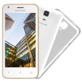 Smartphone MS45S Branco e Dourado 3G Tela 4.5 Pol. Câmera 5MP + 3MP Quad Core 8GB Android 5.1 - MULTILASER-NB703