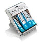 Carregador de Pilhas AA e AAA com Saída USB - MULTILASER-CB073