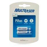 Pilhas Recarregáveis AAA 1000mah com 2 Unidades - MULTILASER-CB051