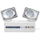 Iluminação Emergência LED 2 Faróis 350 Lumens com Bateria Selada - SEGURIMAX-23740