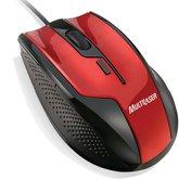 Mouse Gamer Fire USB com 06 Botões - Preto e Vermelho - MULTILASER-MO149