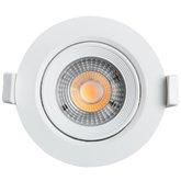 Spot Led Redondo 500 Lúmens 7W 3000K Luz Amarela para Embutir - BLACK+DECKER-BDS1-0500-01