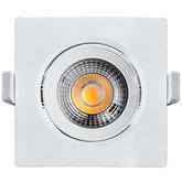 Spot Led Quadrado 500 Lúmens 7W 3000K Luz Amarela para Embutir - BLACK+DECKER-DS1-0500-03
