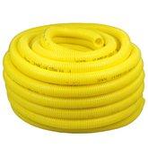 Eletroduto Corrugado Antichama PVC 1 Pol. Amarelo - 25 Metros - PLASTIC MANGUEIRAS-PK00A3