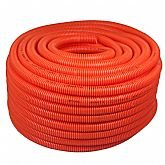 Eletroduto Corrugado Conduíte PVC de 3/4 Pol. Reforçado Anti Chama Laranja - 50 M - PLASTIC MANGUEIRAS-RI00L5
