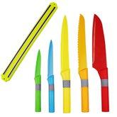Jogo de Facas Coloridas com Barra Magnética - 6 Peças - VETRO-613026