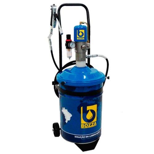 propulsora pneumática para graxa com sistema strike system - balde 24kg + acessórios