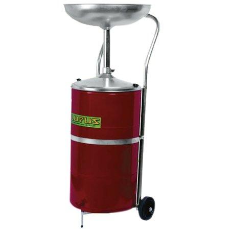 coletor de óleo de 50 litros com carrinho