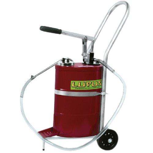 bomba manual para óleo lubrificante 18 litros com carrinho