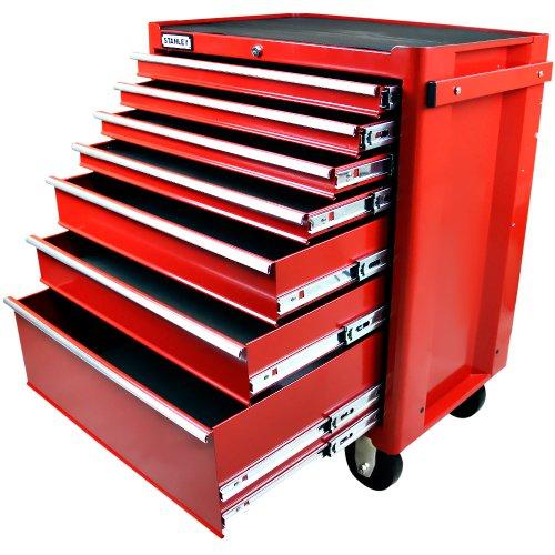 carro para ferramentas vermelho com 7 gavetas