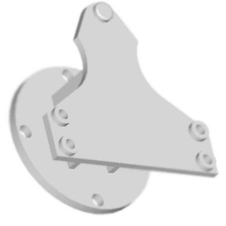 placa acessória p/ caixa de câmbio zf