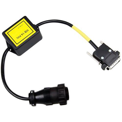 cabo adaptador mb - 14 pinos para kaptort.com diesel