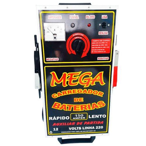 carregador de baterias 150a 12v 220v com auxiliar de partida