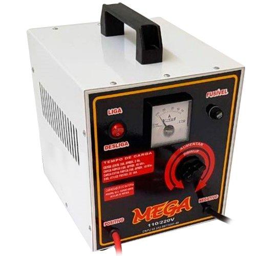 carregador de bateria profissional 12v 50a com auxiliar de partida