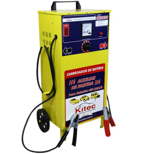 carregador de bateria 100 a com  auxiliar de partida200 a/h