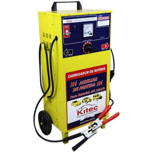 carregador de baterias de 12 v com auxiliar de partida de 200 a/h