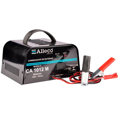carregador de baterias 10a/12v manual