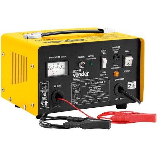 carregador de bateria 12v 110v cbv 950