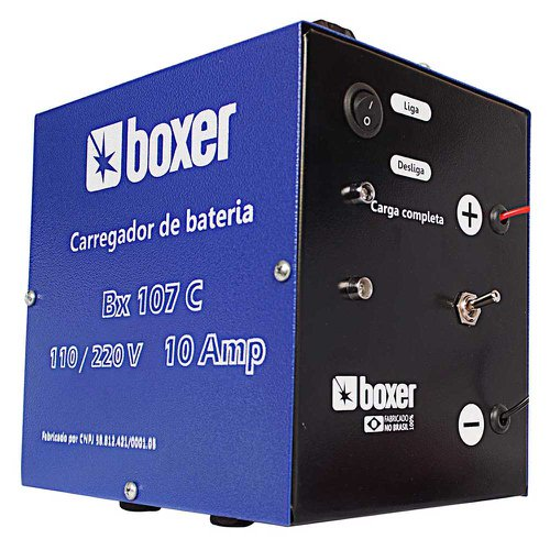 carregador de bateria com auxiliar de partida 100 amp.