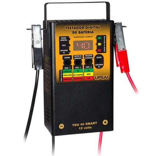 testador digital de bateria 40a 12v microprocessado e automático