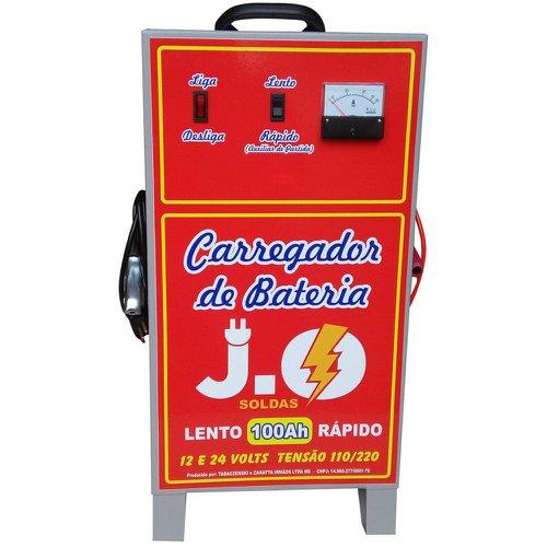 carregador de bateria 100ah 12/24v bivolt com auxiliar de partida