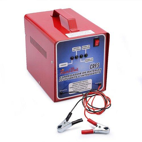 carregador de bateria automático flutuante 12/24v 5a com 4 leds