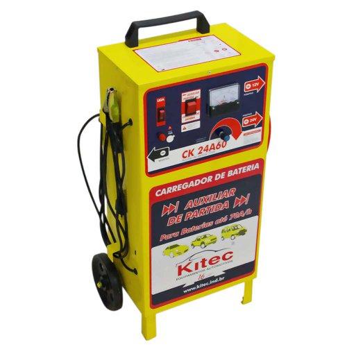 carregador de baterias 12/24v e auxiliar de partida 70a/h