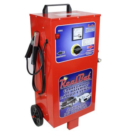 carregador de baterias 12/24v 200a bivolt com auxiliar de partida