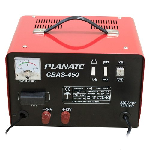 carregador de bateria 12/24v com auxiliar de partida 300a 220v