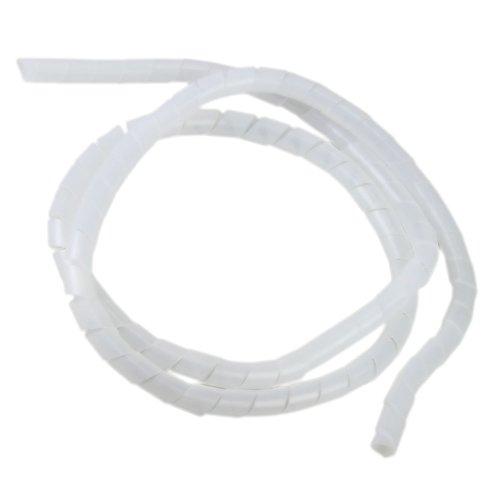 organizador de fios e cabos branco 12 mm - 1,5 metros