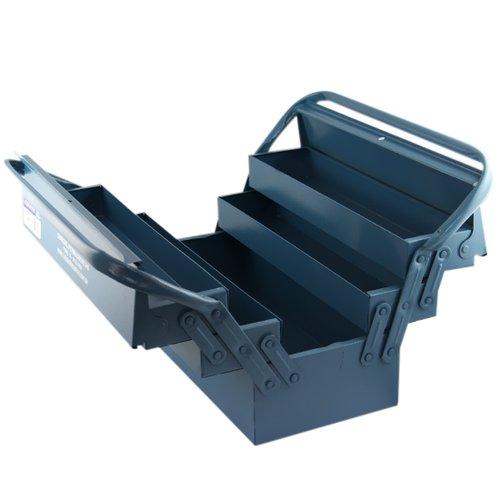 caixa de ferramentas com 5 gavetas azul