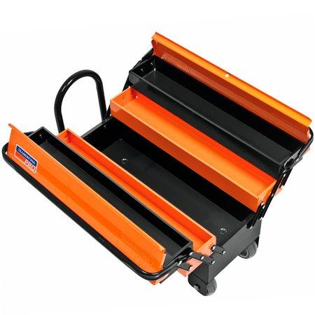 caixa sanfonada com rodas e puxador