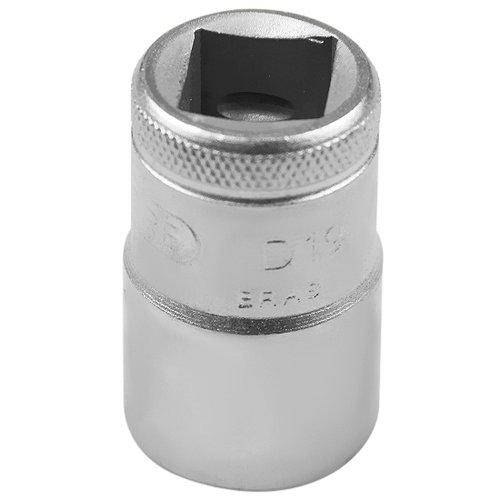 soquete estriado curto com encaixe de 1/2 pol.  17 mm