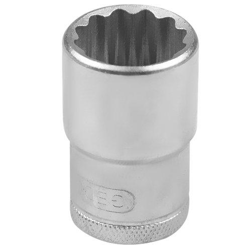 soquete estriado curto com encaixe de 1/2 pol. 18 mm