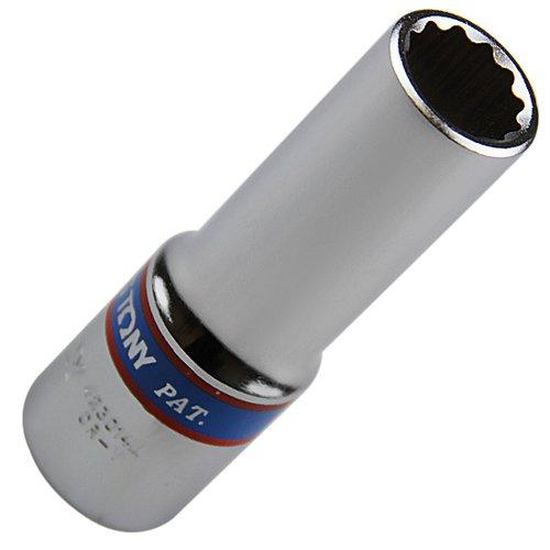 soquete estriado longo de 14 mm com encaixe de 1/2 pol.