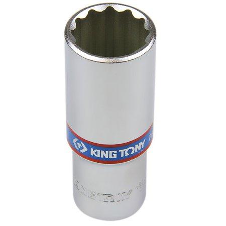 soquete estriado longo 22 mm com encaixe de 1/2 pol.