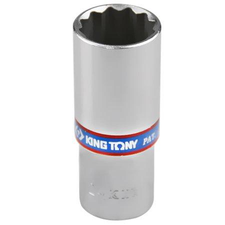 soquete estriado longo 24 mm com encaixe de 1/2 pol.