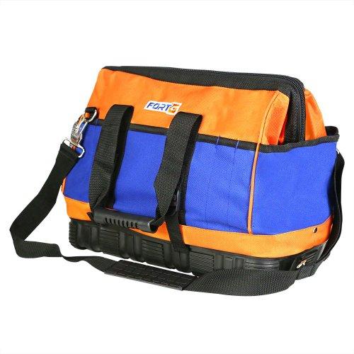 bolsa para ferramentas 40cm em lona dupla com 22 bolsos e fundo de borracha